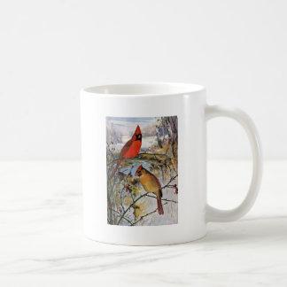 Cardinals in Winter Coffee Mug