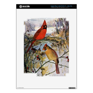 Cardinals in Winter Decal For iPad 3