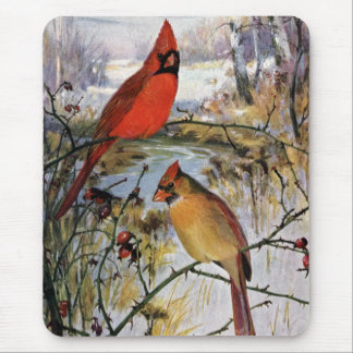 Cardinals in Winter Mouse Pad