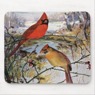 Cardinals in Winter Mousepad