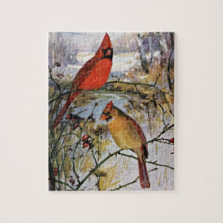 Cardinals in Winter Jigsaw Puzzles
