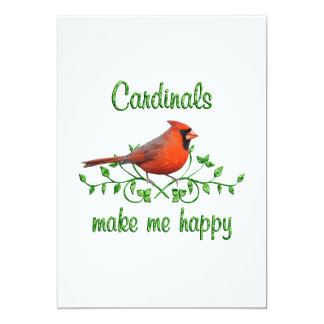 Cardinals Make Me Happy Card