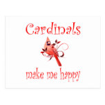 Cardinals Make Me Happy Postcard