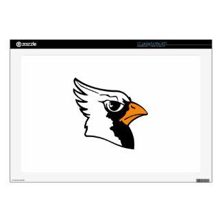"""Cardinals Mascot 17"""" Laptop Skins"""