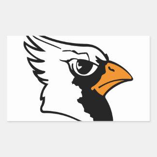 Cardinals Mascot Rectangular Sticker