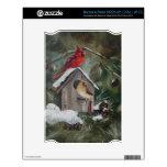 Cardinals On Snowy Birdhouse NOOK Decal