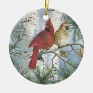 CARDINALS-ORNAMENT CERAMIC ORNAMENT
