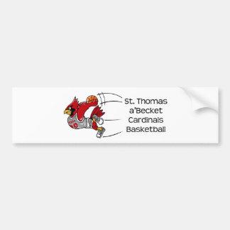 Cardinals print bumper sticker