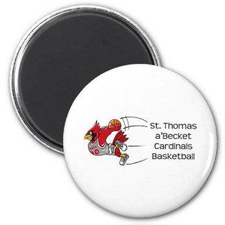 Cardinals print magnet
