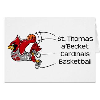 Cardinals print note card
