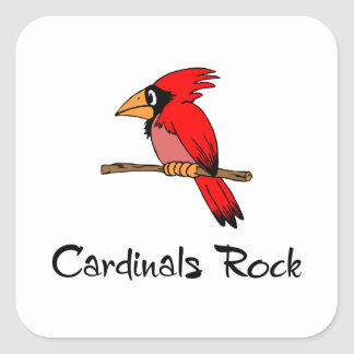 Cardinals Rock Square Sticker