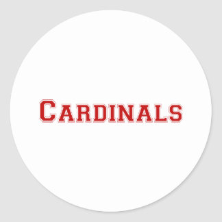 Cardinals square logo in red classic round sticker