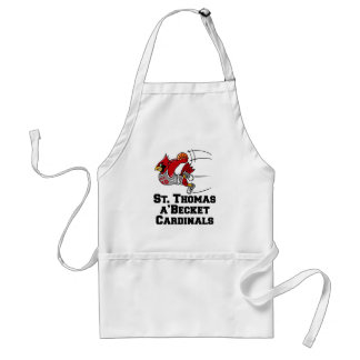 Cardinals with athletic font adult apron
