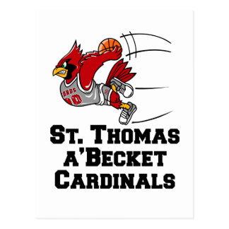 Cardinals with athletic font postcard