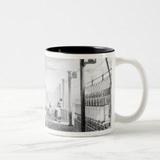 Carding, Drawing and Roving Two-Tone Coffee Mug
