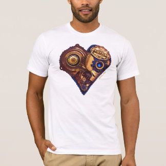 Cardio Art - Assembled Heart in Blue and Gold T-Shirt