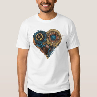 Cardio Art - Assembled Heart in Green and Gold T Shirt