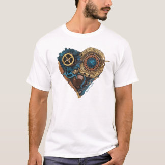 Cardio Art - Assembled Heart in Green and Gold T-Shirt