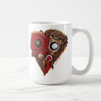 Cardio Art - Assembled Heart in Red and Gold I Coffee Mug