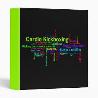 Cardio Kickboxing Word Cloud Vinyl Binder