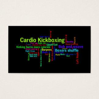 Cardio Kickboxing Word Cloud Business Card
