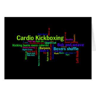 Cardio Kickboxing Word Cloud Card