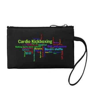 Cardio Kickboxing Word Cloud Change Purse
