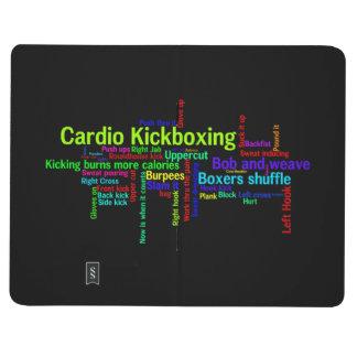 Cardio Kickboxing Word Cloud Journal