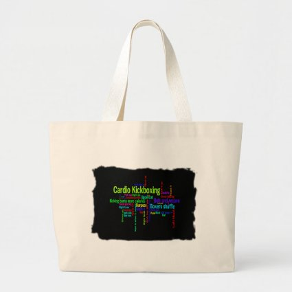 Cardio Kickboxing Word Cloud Jumbo Tote Bag