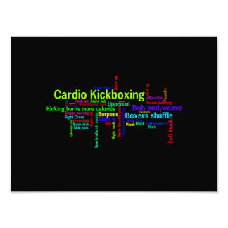 Cardio Kickboxing Word Cloud Art Photo