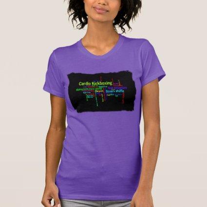 Cardio Kickboxing Word Cloud T-shirt