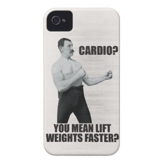 Cardio - Lift Weights Faster - Overly Manly Man Case-Mate iPhone 4 Case