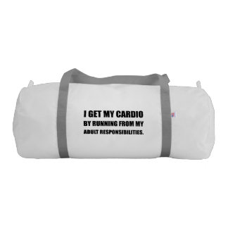 Cardio Running From Responsibilities Gym Bag