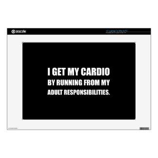 Cardio Running From Responsibilities Laptop Skins