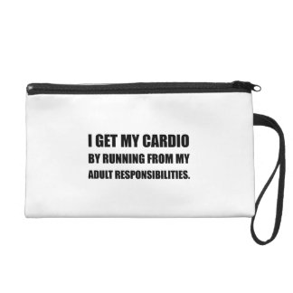 Cardio Running From Responsibilities Wristlet