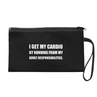 Cardio Running From Responsibilities Wristlet Purse