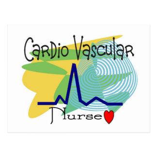 Cardio VASCULAR NURSE T-shirts Postcard