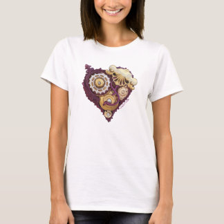 CardioArt - Assembled Heart  in Purple and Gold T-Shirt
