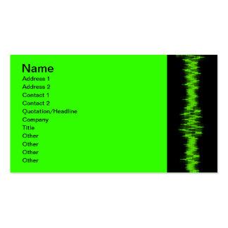 Cardiogram, Name, Address 1, Address 2, Contact... Business Cards