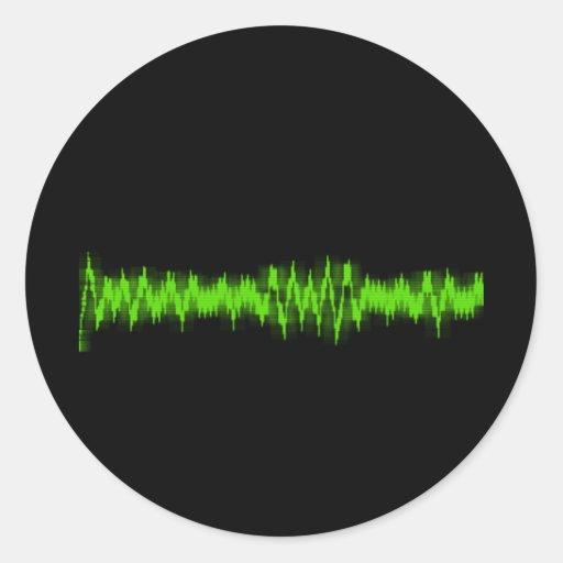 Cardiograma Pegatina Redonda
