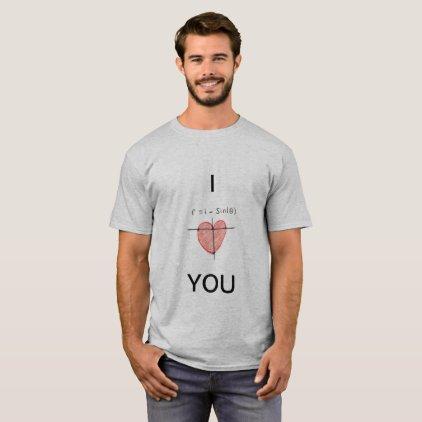 Cardioid I Love You Tshirt