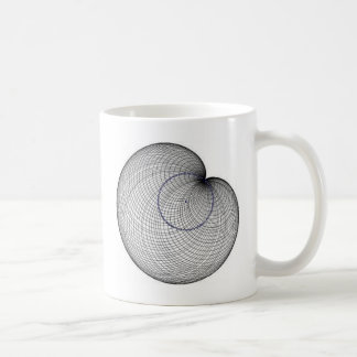 cardioide classic white coffee mug