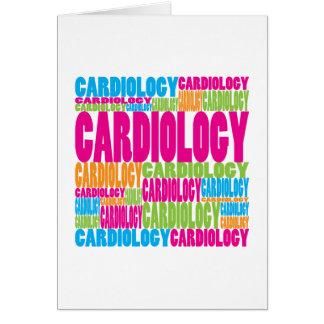 Cardiología colorida tarjetón