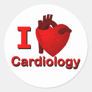 Cardiología I <3 Pegatina Redonda
