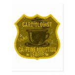 Cardiologist Caffeine Addiction League Postcard