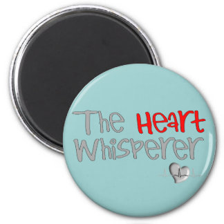 "Cardiologist Gifts ""The Heart Whisperer"" 2 Inch Round Magnet"