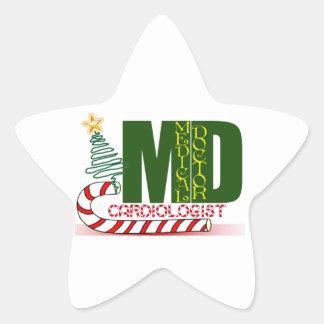 CARDIOLOGIST HEART DOCTOR CHRISTMAS MERRY STAR STICKER