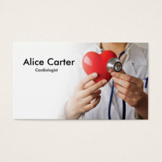 Cardiologist Heart Doctor Clinic First Aid Business Card at Zazzle