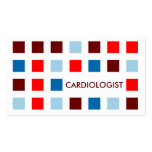 CARDIOLOGIST (mod squares) Business Card Template