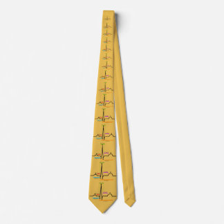 Cardiologist QRS Complex Mens Tie Yellow